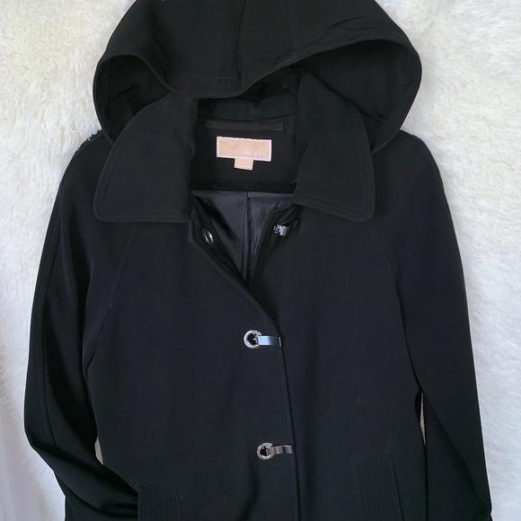 Michael Kors Jackets & Blazers - Michael Kors Black Peacoat Raincoat Women's Size S